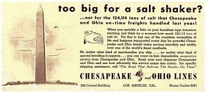 Lot-2-Chesapeake-amp-Ohio-Lines-Vintage-Blotter