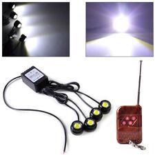 4in1 Car 12v Hawkeye Led Emergency Strobe Lights Drl Wireless Remote Control Kit