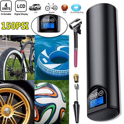 LCD Auto Reifen Luftpumpe Druckluft Fahrrad Kompressor 12V 150PSI Verdrahtet DE