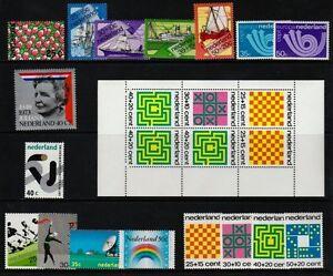 NETHERLANDS-1973-COMPLETE-YEAR-SET-NVPH-1025-1042-INCL-MS-SS-MNG-OG