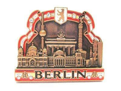 Clever Berlin Metall Magnet Souvenir Brandenb. Tor Dom Reichstag Siegessäule