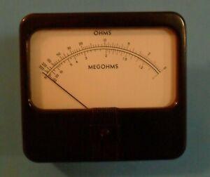 Simpson-Megohm-Analog-Panel-Meter-Model-29-Made-in-USA