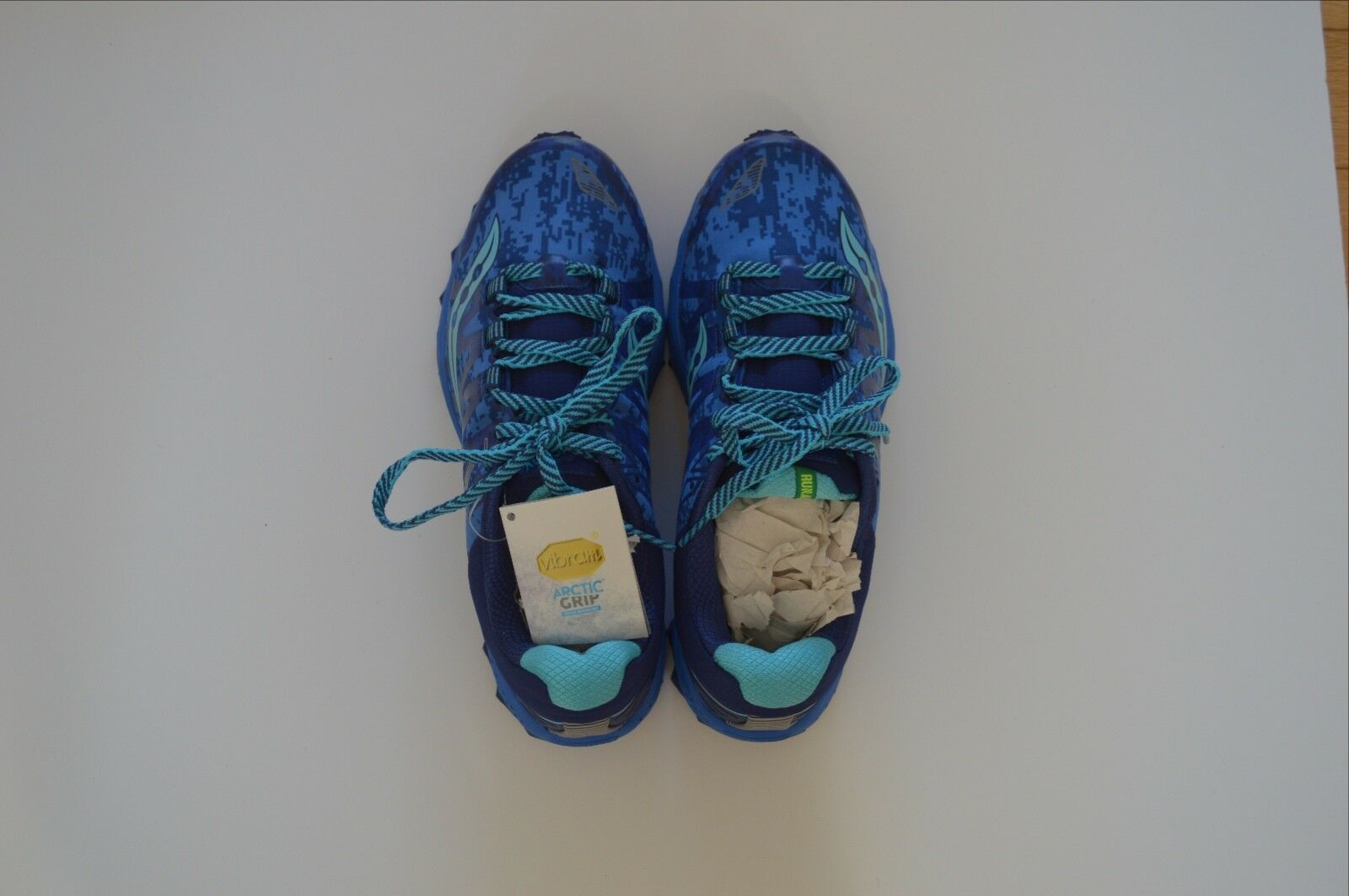 Saucony peregrine 7 Ice Ice Ice + Donna  running scarpe Dimensione 10.5 NWT Spring Rain gear 17dcbf