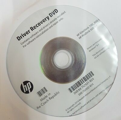 HP Compaq Driver CD de récupération windows 8.1 EliteDesk ...