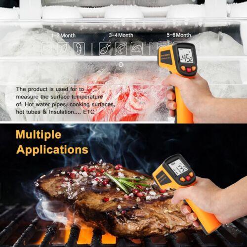 Medidor De Temperatura Térmica Infrarrojo LCD Digital pistola IR láser pirómetro