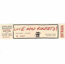 LOVE AND ROCKETS Concert Ticket Stub VALENCIA SPAIN 6/23/88 AUDITORIUM PACHA