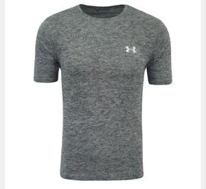 Under-Armour-Short-Sleeve-Shirt-Mens-Size-Medium-NEW-Athletic-Gray-NWT-Logo