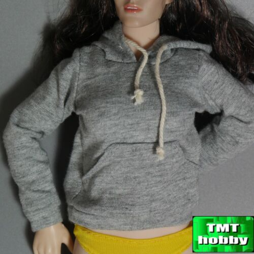 Light Grey hoody hoodie Street style 1:6 Scale ace Female figure parts A812LG