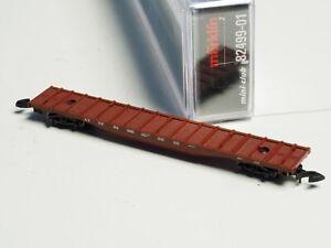 82499-01-Marklin-Z-scale-large-flat-car-in-metal-ATSF-Santa-Fe-USA-NIB