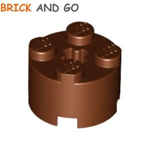 6 x LEGO 3062 Brique Ronde Round Brick 1x1 Open Stud NEUF NEW marron, brown