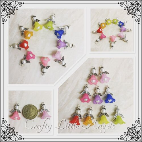 Handmade Multicoloured Angel Charms Wedding Baby Shower Christmas Decorations 9