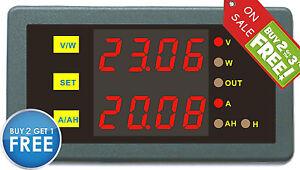 DC-Digital-Voltmeter-Amperemeter-90V-150A-Red-LED-Meter-Voltage-Amp-Indicator