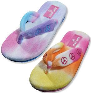 06c04e42e Sole Kool Girls Terry Cloth Thong Flip Flop Shoe for Beach Pool ...