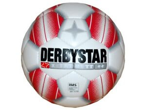 Derbystar-X-Treme-TT-Fussball-Gr-5-Training-Fussball-rot-IMS-Ball-Schule-Verein
