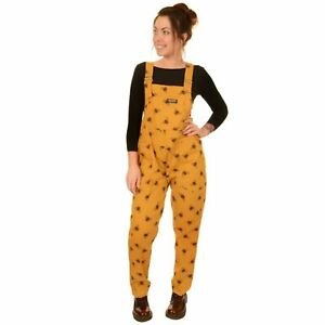 Run and Fly Leopard Print Stretch Cotton Dungarees Overalls 8 10 12 14 16 18 20