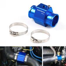 34mm Water Temp Temperature Joint Pipe Sensor Gauge Radiator Hose Adapter Blue