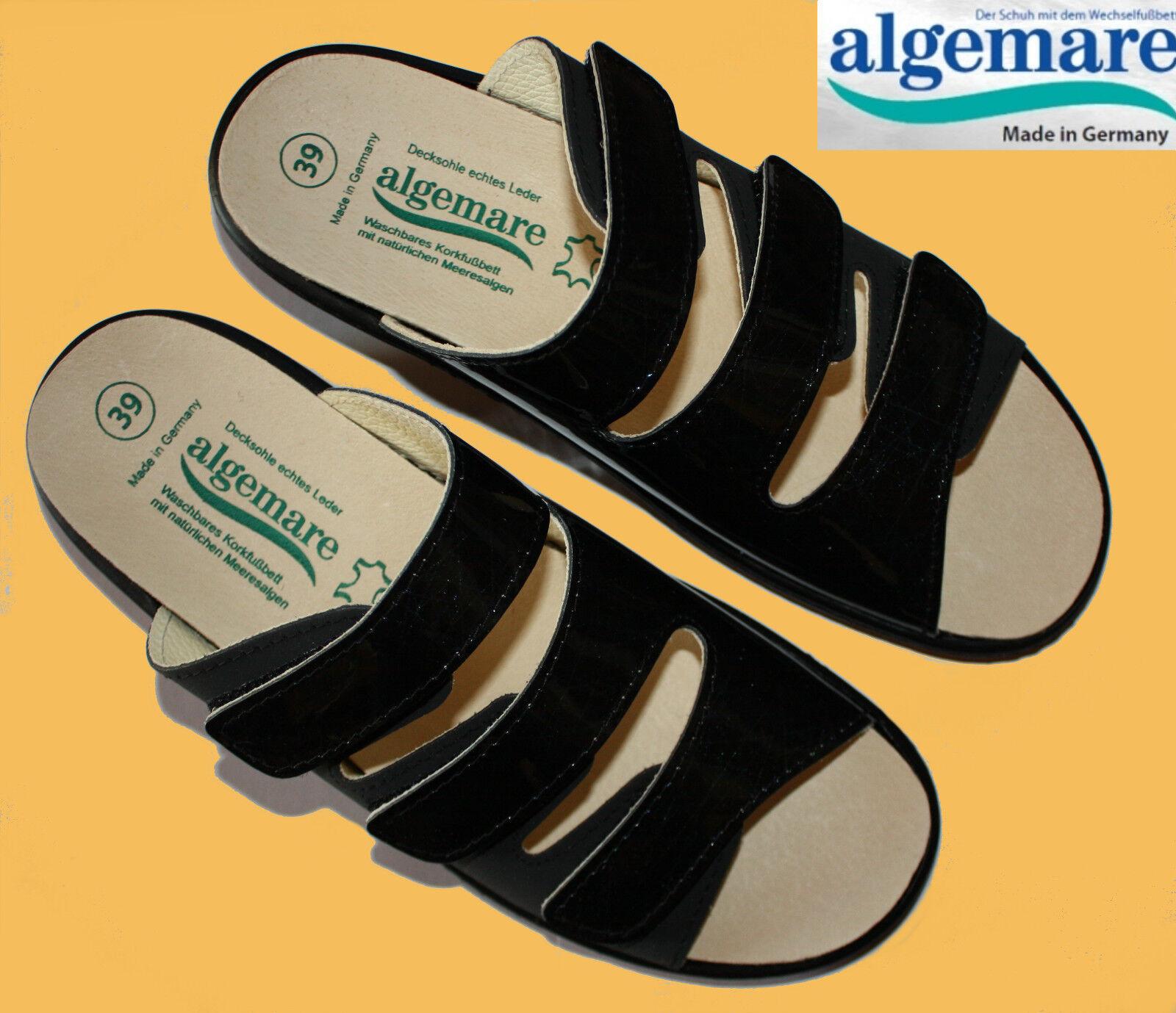 Algemare Pantoletten Hausschuhe Pantoffeln Damen glamour Wechselfußbett 38-42