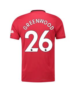 A77 manchester United Home Shirt 19 -20 mannens XL Gratis groenHout print&prem badge