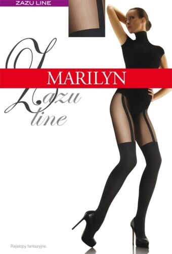 "MOCK SUSPENDER STOCKINGS-TIGHTS-MARILYN /"" ZAZU LINE/"" 60//20 DENIER"