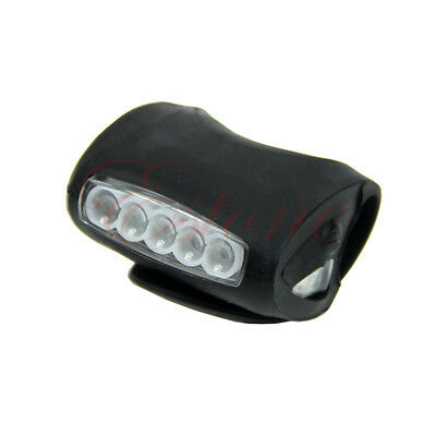 Safety Warning Light  Bicycle Bike Cycling 7 LED Frog Silicone Front Lamp Head