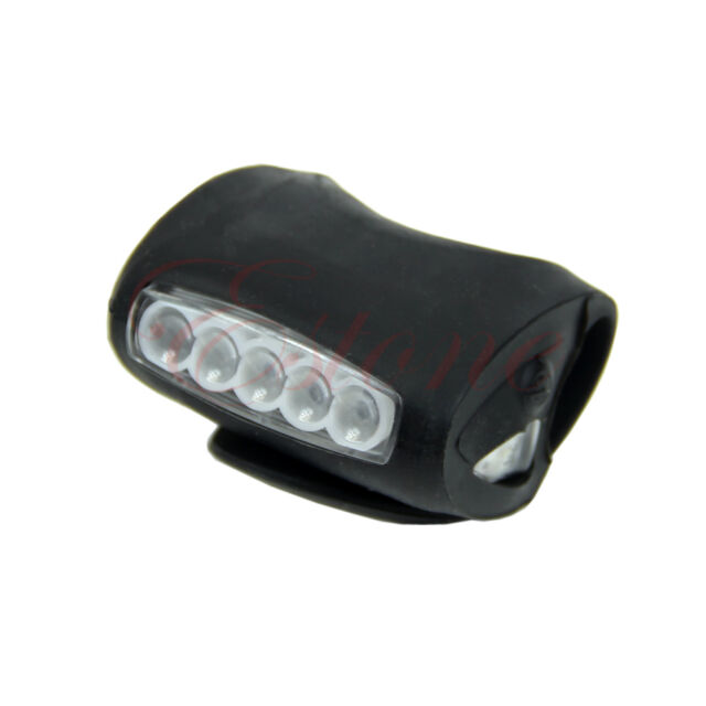 Bicycle Cycling 7 LED Frog Silicone Front Lamp Safety Warning Head light Bike
