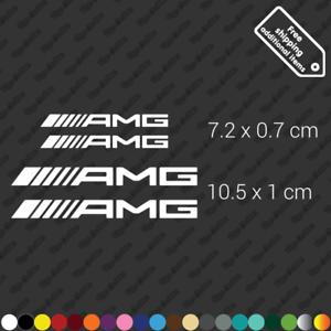 White x4 AMG Mercedes Benz A class 45 calliper sticker restoration decal kit