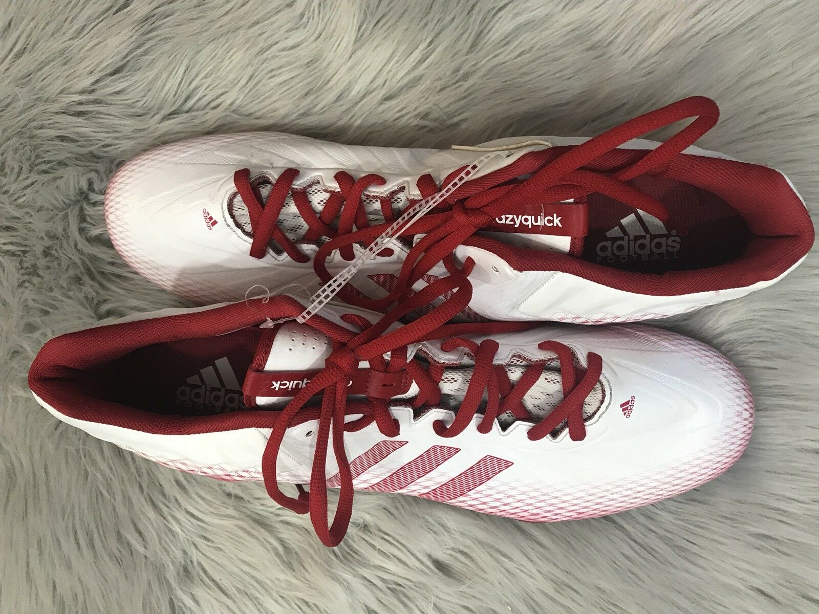 New Men's Red/White 'Crazyquick' adidas Low Top FootBall Cleats Price reduction Casual wild