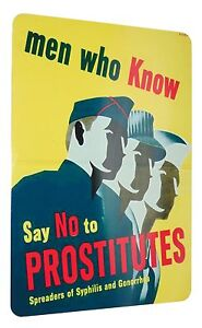 Ww2-Just-Say-No-Vd-Psa-Poster-Reproduction-Sign-8-X-12-Inches-New-Aluminum