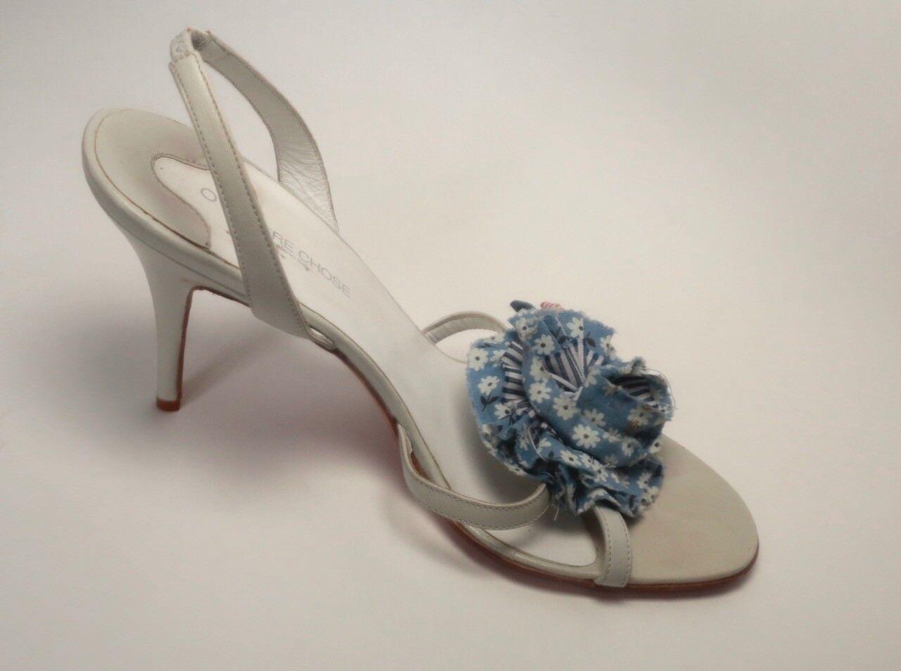O L'Autre Chose Bleu Pastel Pastel Pastel Talons Hauts Avec Détail Fleur 9f2eff