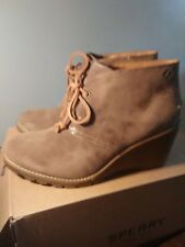 57abd6b087fe item 1 NEW women s Sperry Top-Sider Celeste prow Bootie wedge heel taupe  size 10 -NEW women s Sperry Top-Sider Celeste prow Bootie wedge heel taupe  size 10