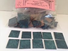 DOLLHOUSE MINIATURE....LOT OF FLOOR TILE (75)...GREEN MARBLE..1x1 TILES