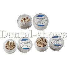 50 Pcs Dental Supply Natural Wood Wooden Wedges Matrix Contoured Sterilized D Ss