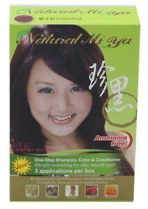 Natural Mi Ya Herbal Colorant 3-1 Hair Dyeing Coloring Shampoo ...