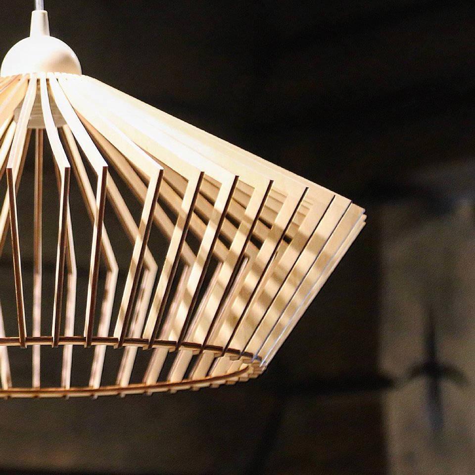 Wood Lamp / Wooden Lamp Shade / Hanging Lamp / Pendant