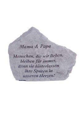 """Brillant Gedenkstein """"mama & Papa..."""" Vidroflor Steinguss Friedhof Frostfest 15561 Senility VerzöGern Antiquitäten & Kunst"""