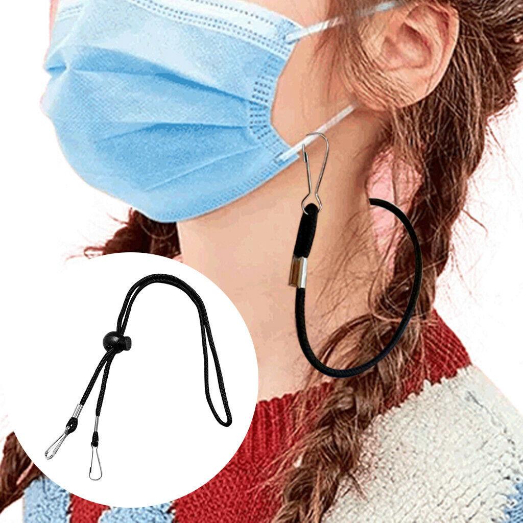 Adjustable Face Mask Lanyard Handy&Convenient Safety Mask Rest&Ear Holder Rope