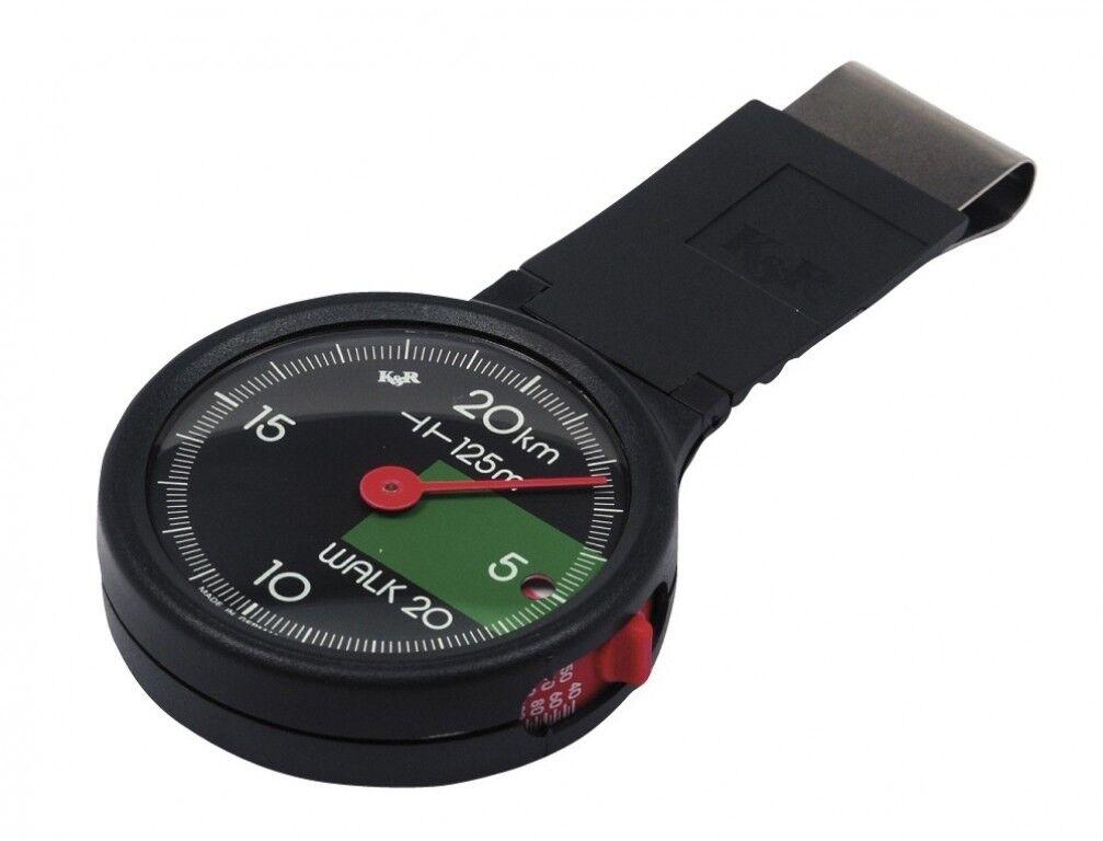 K&R Schrittzähler Walk 20 Pedometer Schrittmesser Entfernungsmesser