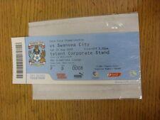 22/08/2009 BIGLIETTO: COVENTRY CITY V Swansea City (SKY Creations Lounge). se non