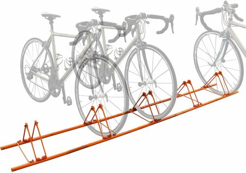 5 Bike Floor Rack,Sports Bicycle Storage Stand for 5 Bikes Cycling Floor Parking