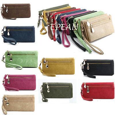 Fashion Wallet Wristlet Lady Card Coin Holder Long Wallet Clutch Zipper Purse TO