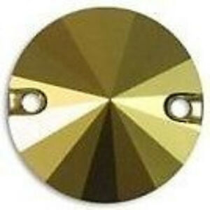 2 Pcs Swarovski ® Crystal Dorado Gold Round 14mm Tissu-swarovski Ref: 3200-afficher Le Titre D'origine Cmnfioch-10130853-922471884