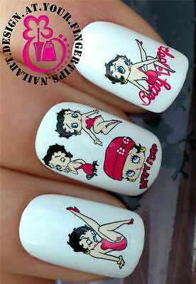 *NEW* NAIL ART WATER TRANSFERS STICKERS DECALS SET BETTY BOOP BOO FIGURE #178