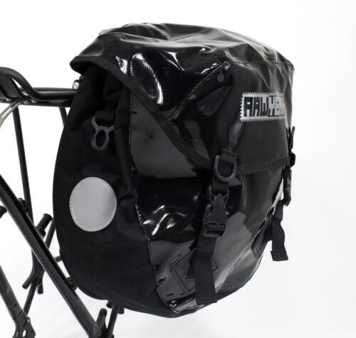 AAWYEAH Waterproof Bicycle Tour Rear Panniers,Touring Bag,Heavy Duty,Black,Large