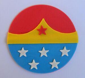 1 Edible Large Wonder Woman Logo Cake Topper Decoration Super Hero
