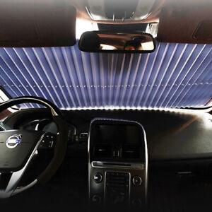 Auto-Frontscheibe-Klemmtraeger-Sonnenschutz-Fenster-Rollo-sonnenblende-140X45cm