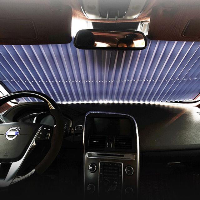 Auto Frontscheibe Klemmträger Sonnenschutz Fenster Rollo sonnenblende 140X45cm