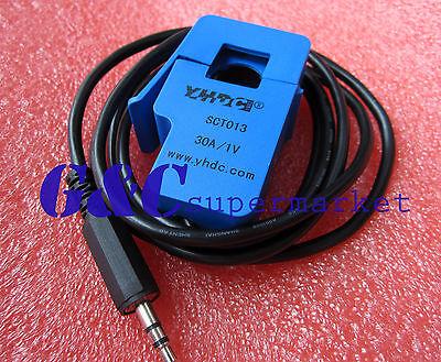 2PCS SCT-013-030 Non-invasive AC Current Sensor Clamp Sensor 30A NEW