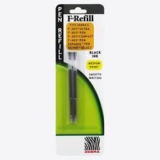 4 Foray Refill pen For Zebra F-301 F-605 F-750  Ballpen Black inc 2//pack x 2