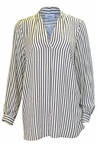NEW-Ex-Yessica-White-Black-Stripe-Blouse-Ladie-Tunic-Shirt-Top-Size-16-34