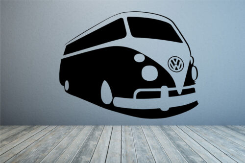 Classic VW Volkswagon Camper van wall art decal sticker Any colour /& size.